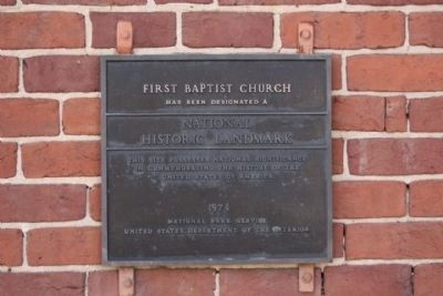 First Baptist Church *** ( Building - #71000800) image. Click for full size.