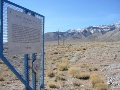 Old Spanish Trail Marker Photo, Click for full size