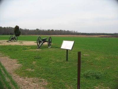 The Battle of Malvern Hill Marker and Cannons image. Click for full size.