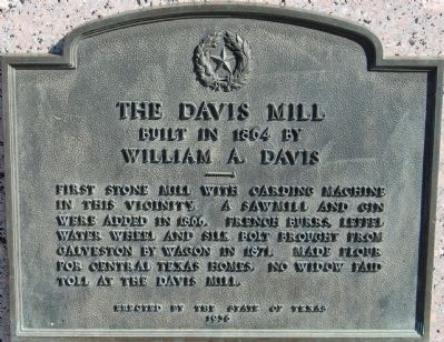 The Davis Mill Marker image. Click for full size.