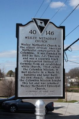 Wesley Methodist Church Marker image. Click for full size.