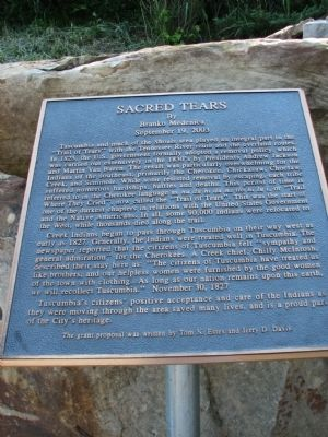 Sacred Tears Marker Photo, Click for full size