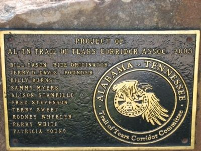Project of AL~TN Trail of Tears Corridor Assoc. 2003 Photo, Click for full size