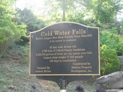Cold Water Falls Marker image. Click for full size.