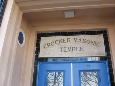 The Crocker Masonic Temple image. Click for full size.