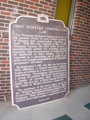 First Workers' Compensation Law Marker Photo, Click for full size