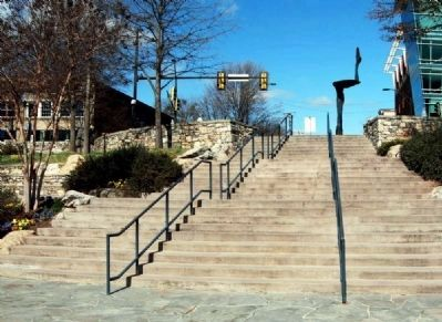 Community Staircase Leading from<br>Tate Plaza into Falls Park image. Click for full size.