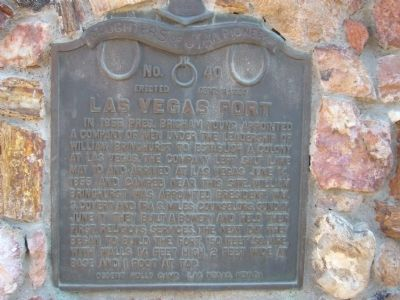 Las Vegas Fort Marker image. Click for full size.