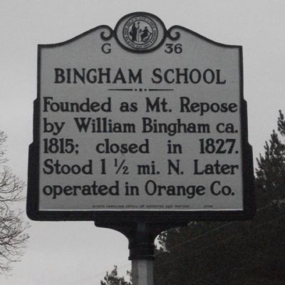 Bingham School Marker image. Click for full size.