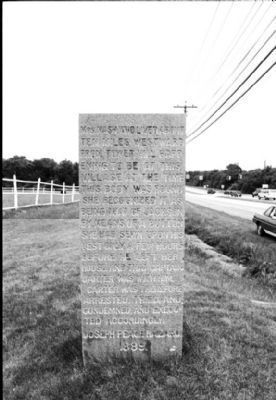 Carter Jackson Monument Marker - South Side image. Click for full size.