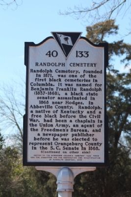 Randolph Cemetery Marker image. Click for full size.