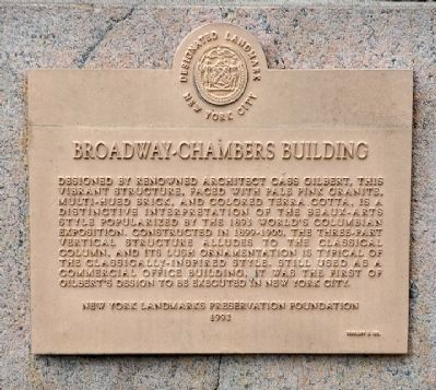 Broadway-Chambers Building Marker image. Click for full size.