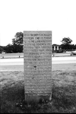 Carter Jackson Monument Marker - West Side image. Click for full size.