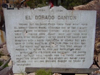 El Dorado Canyon Marker image. Click for full size.