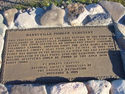 Hardyville Pioneer Cemetery Marker image. Click for full size.