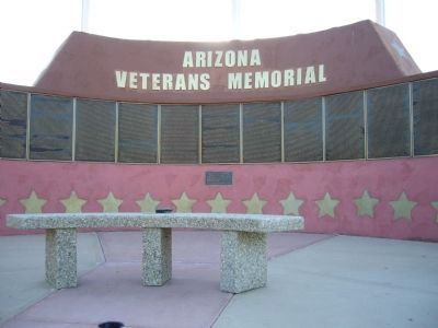 Arizona Veterans Memorial Marker Photo, Click for full size