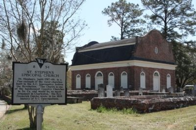 St. Stephen's Episcopal Church and Marker seen from Church Road (State Road 45) Photo, Click for full size