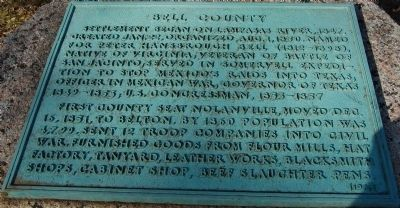 Bell County Marker image. Click for full size.