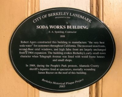 Soda Works Building Marker image. Click for full size.