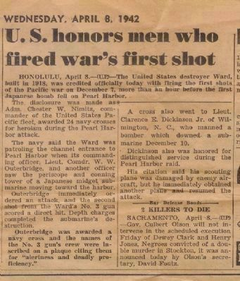 Newspaper clipping from April 8, 1942 Photo, Click for full size