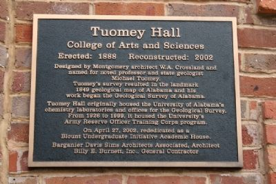 Tuomey Hall Marker image. Click for full size.