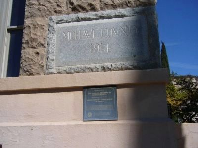 Mohave County Courthouse Marker and Cornerstone image. Click for full size.