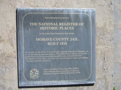 Mohave County Jail Marker image. Click for full size.