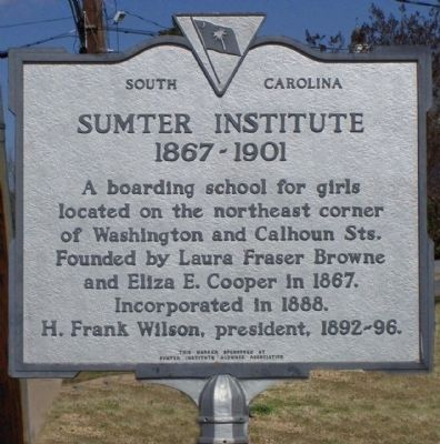 Sumter Institute Marker image. Click for full size.
