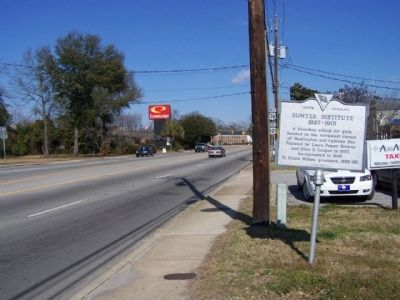 Sumter Institute Marker, looking north along North Washington Street (US 76,US 521) image. Click for full size.