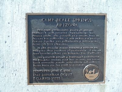 Camp Beale Springs Arizona Marker Photo, Click for full size