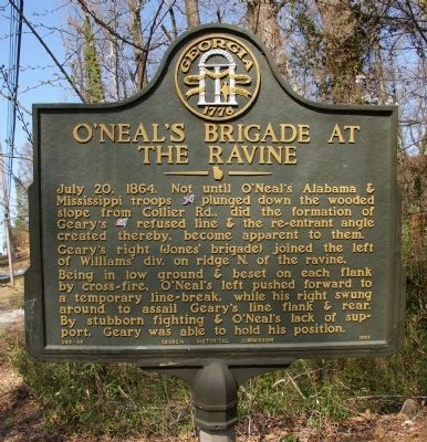 O'Neal's Brigade at the Ravine Marker image. Click for full size.