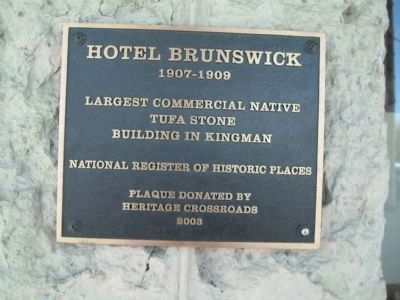 Additional Hotel Brunswick Marker image. Click for full size.