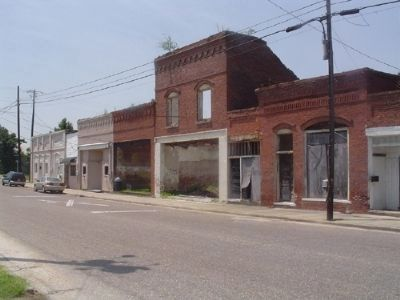 The Mayesville Historic Commercial block image. Click for full size.