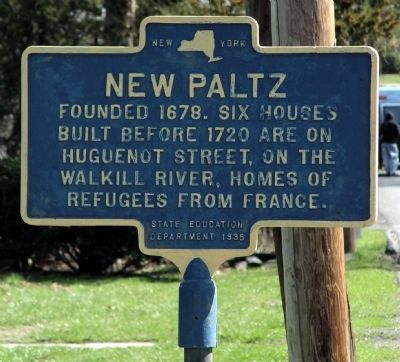 New Paltz Marker image. Click for full size.