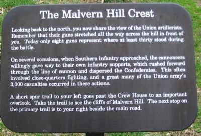 The Malvern Hill Crest Marker image. Click for full size.