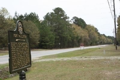 Fort McAllister Marker looking east along Ga-144 Spur image. Click for full size.