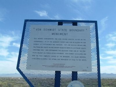 Von Schmidt State Boundary Monument Marker image. Click for full size.