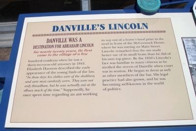 Danville&#39;s Lincoln Marker </b>(Left Section) Photo, Click for full size