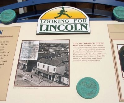 Danville&#39;s Lincoln Marker </b>(Center Section) Photo, Click for full size