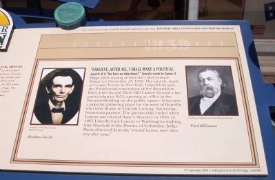 Danville&#39;s Lincoln Marker </b>(Right Section) Photo, Click for full size
