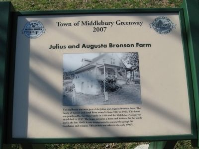 Julius and Augusta Bronson Farm Marker image. Click for full size.