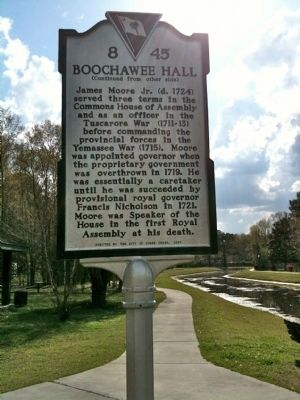 Boochawee Hall Marker (reverse) image. Click for full size.