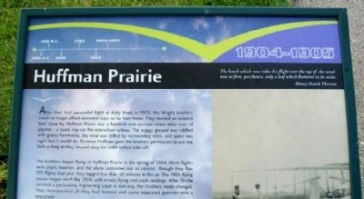 Huffman Prairie Marker image. Click for full size.