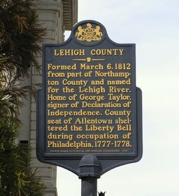 Lehigh County Marker image. Click for full size.