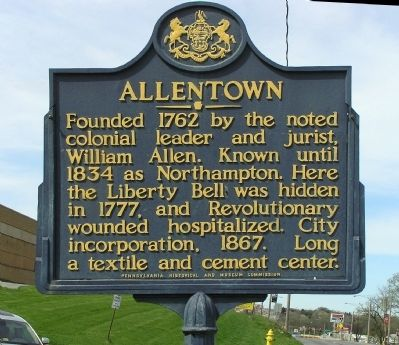 Allentown Marker image. Click for full size.