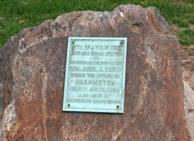 Stone Marker at Walter Reed Army Medical Center Photo, Click for full size