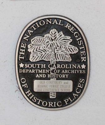 Old Cokesbury and Masonic Female College and Conference School Marker image. Click for full size.