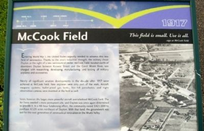 McCook Field Marker Photo, Click for full size