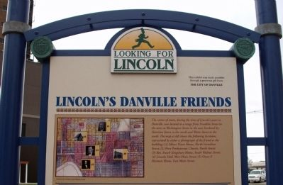 Top Section - - Lincoln's Danville Friends Marker image. Click for full size.
