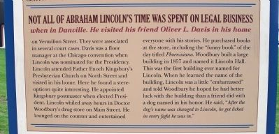 Middle Section - - Lincoln's Danville Friends Marker image. Click for full size.